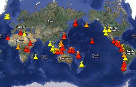 Vulkane Weltweit