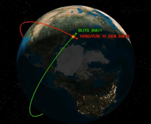 kollision-satellit