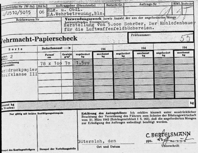 wehrmacht-bertelsmann-papierscheck