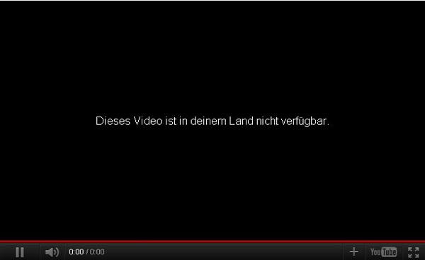 Youtube Video Weltweit Gesperrt